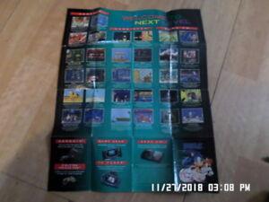 Sega Genesis / Game Gear / C.D. (Jurassic Park) Promo Poster / Insert