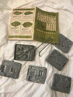 Vintage 1965 Mattel Fighting Men Maker-Pak Thingmaker Genuine Plastigoop Molds