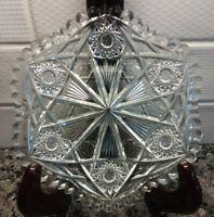 """Antique ABP Plate Cut Glass 7"""""""