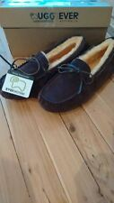 UGG EVER sheepskin Chocolate Moccasins Size 43  M10, L12