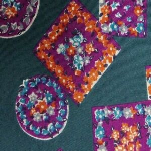 Green Purple Silk Floral KRIZIA Tie