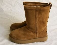 Ugg Women's Classic Short Weather Boots Size: 5.5 Waterproof Chestnut NWOB