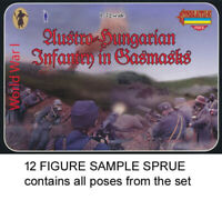 STRELETS M059 Austro-Hungarian Infantry in Gasmasks 1/72 Kit - 1 SPRUE 12 figs
