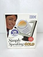IBM Simply Speaking Gold for Windows 95 or NT Voice Type You Talk It Types