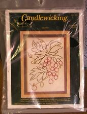 CANDLEWICKING craft kit Grapes on Vine design NWT Needle Magic 1980s
