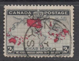 "Canada CDS Cancel Scott #85 2 cent black, lavender & carmine ""Imperial Penny""  F"