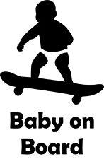 Baby On Board - Skateboard Vinyl Decal Sticker for Car/Window/Wall