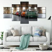 911 Generation Evolution Car 5 Pieces Canvas Wall Art Poster Print Home Deco
