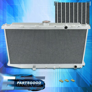 For 88-91 Civic Crx Ef 1.5L M/T Dual Sized Aluminum Race 2-Row Cooling Radiator