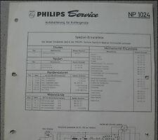 Philips np1024 Haicom pour valise périphériques service feuille