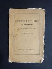 Dupanloup SOCIÉTÉS DE CHARITÉ, FRANCS-MAÇONS et circulaire du 16/10/1861 Orléans