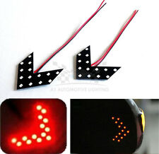 2x 14pcs 3528 SMD LED Red Arrow Panel Side Mirror Indicator Turn Signal Lamps B