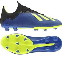 ADIDAS X 18.3 FG YOUTH SOCCER CLEATS SHOES BLUE DB2416 NEW SIZE 5.5