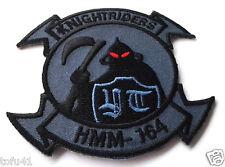 KNIGHTRIDERS HMM-164 Military Veteran Biker US MARINE Patch PM5308 EE