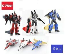Transformers G1 Style Decepticon Jet Team 3 In 1 - Dirge, Ramjet, Thrust