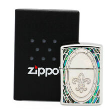 ZIPPO Armor Shell Inlay SHELL-LLY Mirror Surface White Shell New