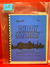 Dirty Harry Pinball Operation/Service/Repair/ Troubleshooting Manual Williams G8