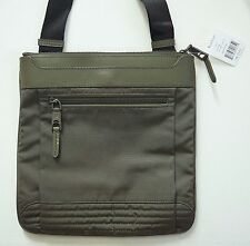 RALPH LAUREN Olive Nylon Leather CROSS-BODY Shoulder Bag