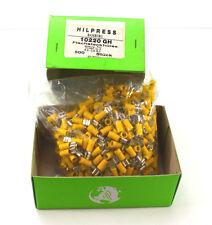 Hilpress Flachsteckhülsen Quetschverbinder Kabelschuhe Flachstecker gelb 500Stck