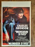 Plakat Belgischer Monsieur St Ives Mijnheer Charles Bronson J.Lee Thompson