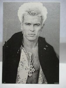 1980 ADV POSTCARD PERRI LISTER INVITES YOU POST CONCERT PARTY FOR BILLY IDOL