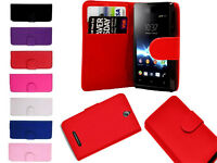 Leather Book Flip Wallet Cover Pouch Case For Sony Xperia Z1 L39H C6902 C6903 UK