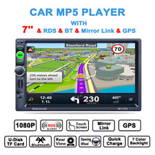 "1080P 7"" 2 Din Car GPS Navigation Bluetooth MP5 AM/FM/RDS Radio Player With Map"