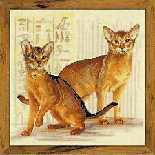 Counted Cross Stitch Kit Riolis - Abyssinian cats