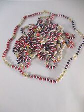 Lot of 12 Anthropologie Tri Color crystal  Bead Flower knot necklace NWOT 59