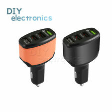 3-Port Usb Car Charger Adapter Led Display Fast Charging for Android Us