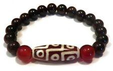 Big Stretchy 9-eye Agate dZi Beads Beaded Bracelet-CLEANSE NEGATIVE ENERGY