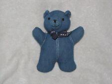 Vintage Baby Gap Denim Jean Teddy Bear Stuffed Plush Rattle Toy