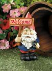 WELCOME HOME SIGN SOLAR OUTDOOR GNOME PATRIOTIC STATUE LANTERN LED PATH LIGHT