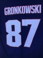 New England Patriots #87 Rob Gronkowski Jersey Style Print T-Shirt Xl Gronk Bucs