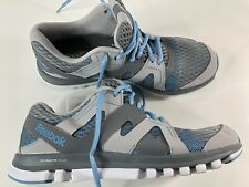 Rebook Sublite Duo Womens Running Shoes Grey Blue Size 8.5