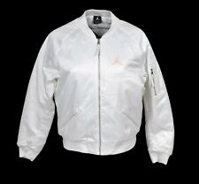 fc93a8ffeb7f Nike Air Jordan Wings MA-1 Jacket White Sunset AO4382-100 Womens Sz L