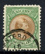 Netherlands 1893-8 SG#162, 50c Brown & Yellow-Green P11 Used Cat £275 #A56455