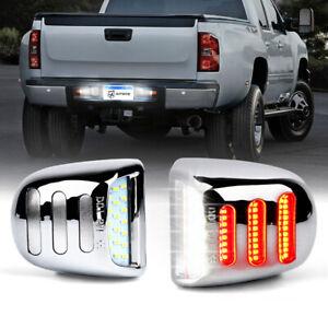 PAIR Chrome LED License Plate Lights Assembly for 1999-2013 Chevrolet Silverado