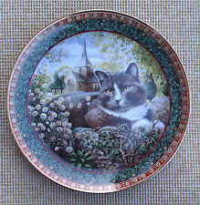 "LESLEY ANNE IVORY'S ""CATS!"" - ""DELABOLE"" PLATE BY DANBURY MINT - 2000"