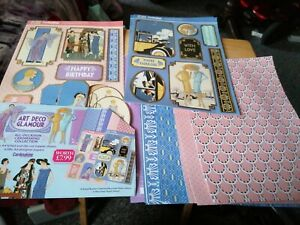 Art Deco Glamour Foiled And Die Cut Toppers And Designer Papers, 14 Sheets