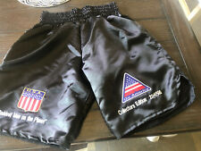 Mike Tyson Novelty Boxing Shorts Size XL With Stitched On Patches