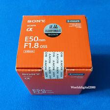 Sony 50mm F1.8 Lens Mid-Range Prime Lens Sel50F18 For E-mount Nex Series -Black-