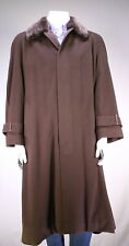 ZILLI Recent Brown 100% Cashmere w/ Real Fur Collar Full Length Overcoat 42/L