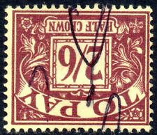 More details for 1961 sg d65wi 2s6d purple/yellow postage due watermark sideways-inverted used