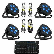 ADJ Mega HEX Par 4 Pack with cables and controller