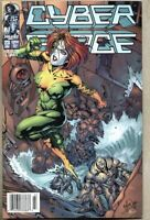 Cyberforce #23-1996 vf+ 8.5 Image Newsstand Variant Cover