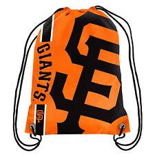 MLB SF San Francisco Giants Big Logo Side Stripe Drawstring Backpack Backsack