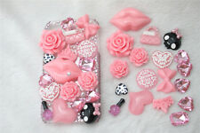 New 3D Bling Pink lips DIY Cell Phone iPhone4 Case - Deco Den Kit Qute Hot