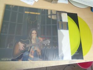 Birdy – Young Heart yellow vinyl 2LP signed autographed - CREASE IN SLEEVE