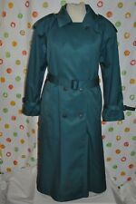 WORTHINGTON GREEN SEXY belted LONG TRENCH ALL WEATHER  COAT WOMEN`S 16 EUC